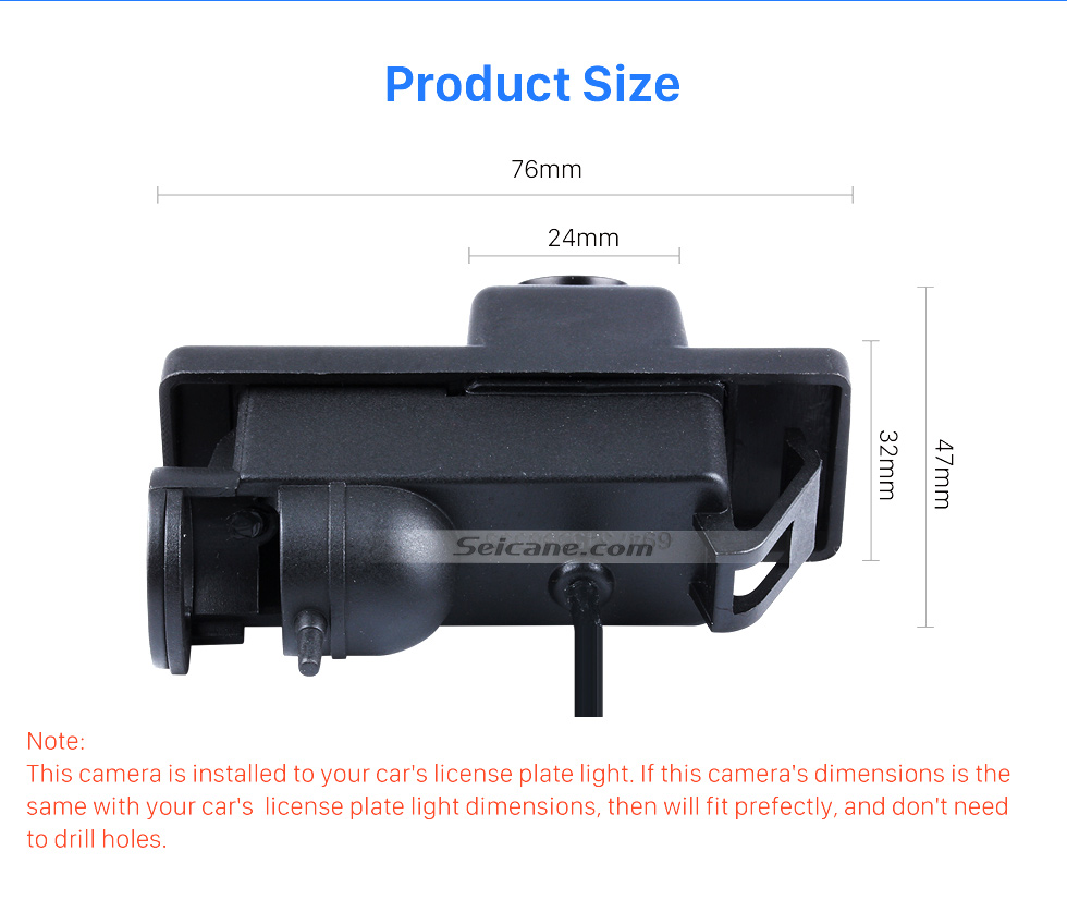 Product Size HD 600 TV Lines Wired Car Parking Backup Reversing Camera for Mercedes-Benz Viano Vito Waterproof Night Vision free shipping