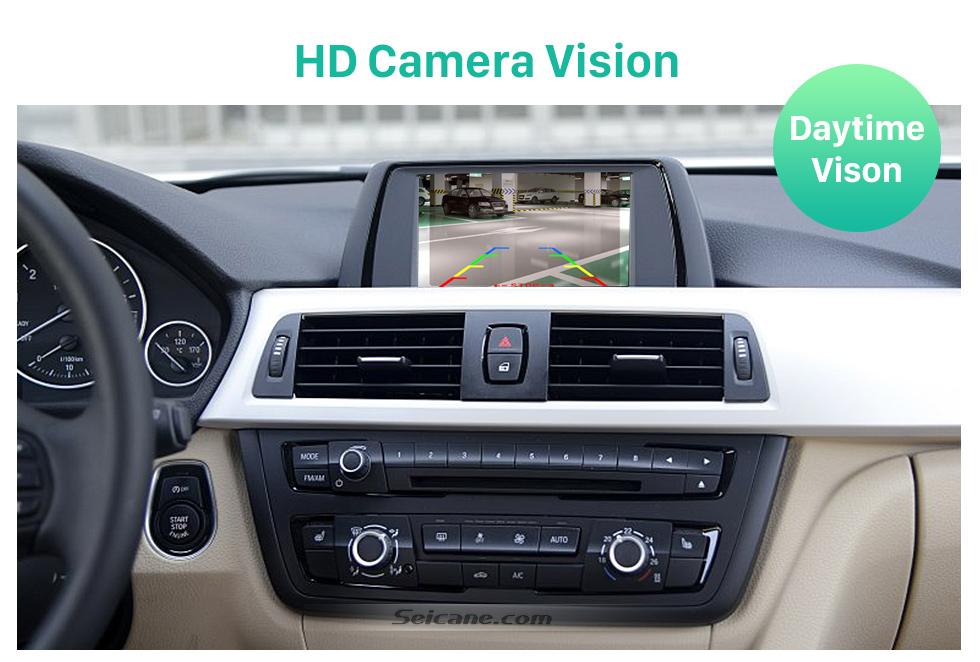 HD Camera Vision Hot selling BMW 3  Car Rear View Camera with four-color ruler and LR logo Night Vision free shipping