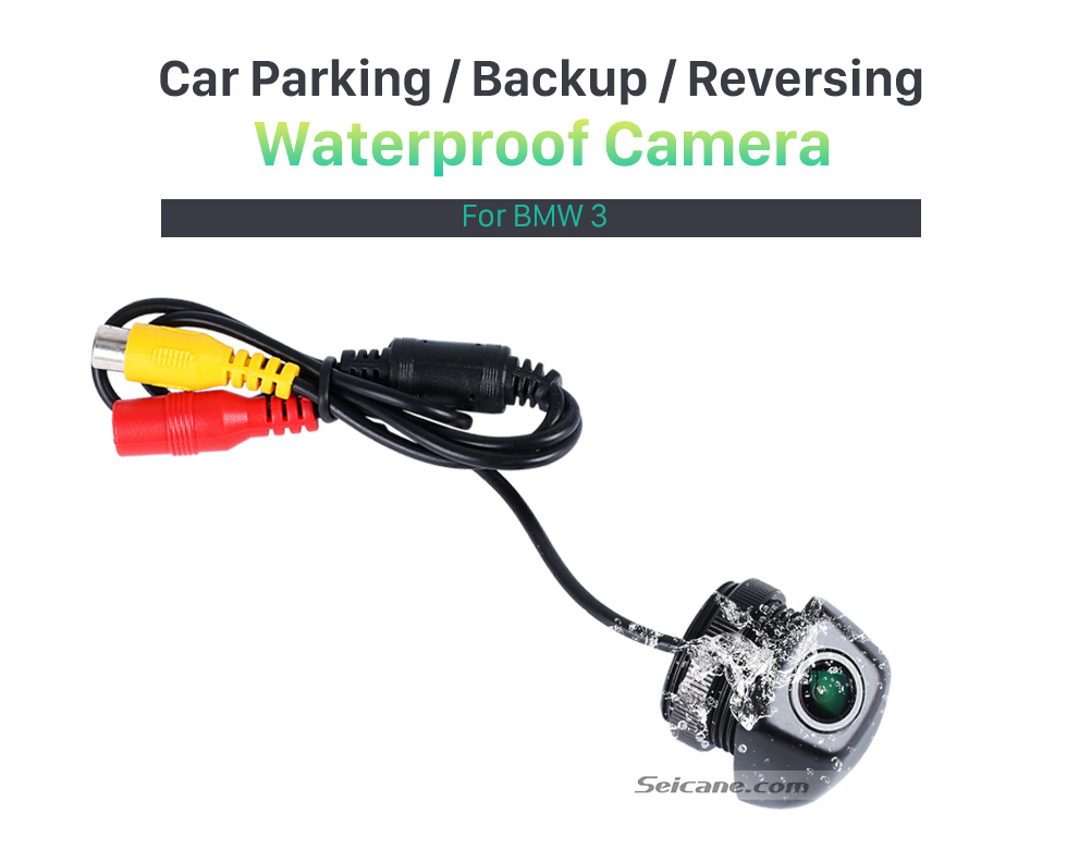 Seicane Hot selling BMW 3  Car Rear View Camera with four-color ruler and LR logo Night Vision free shipping