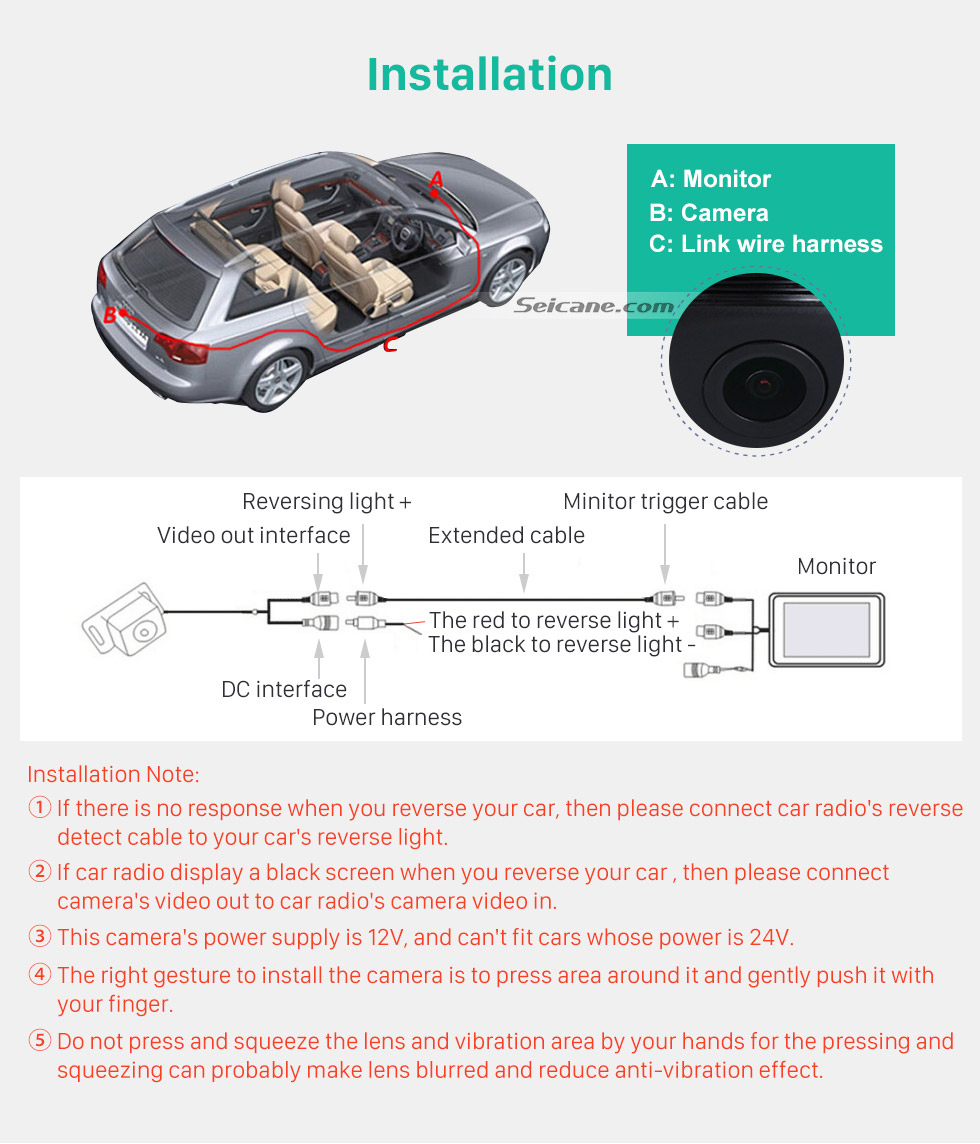 Installation Hot selling BMW 3  Car Rear View Camera with four-color ruler and LR logo Night Vision free shipping