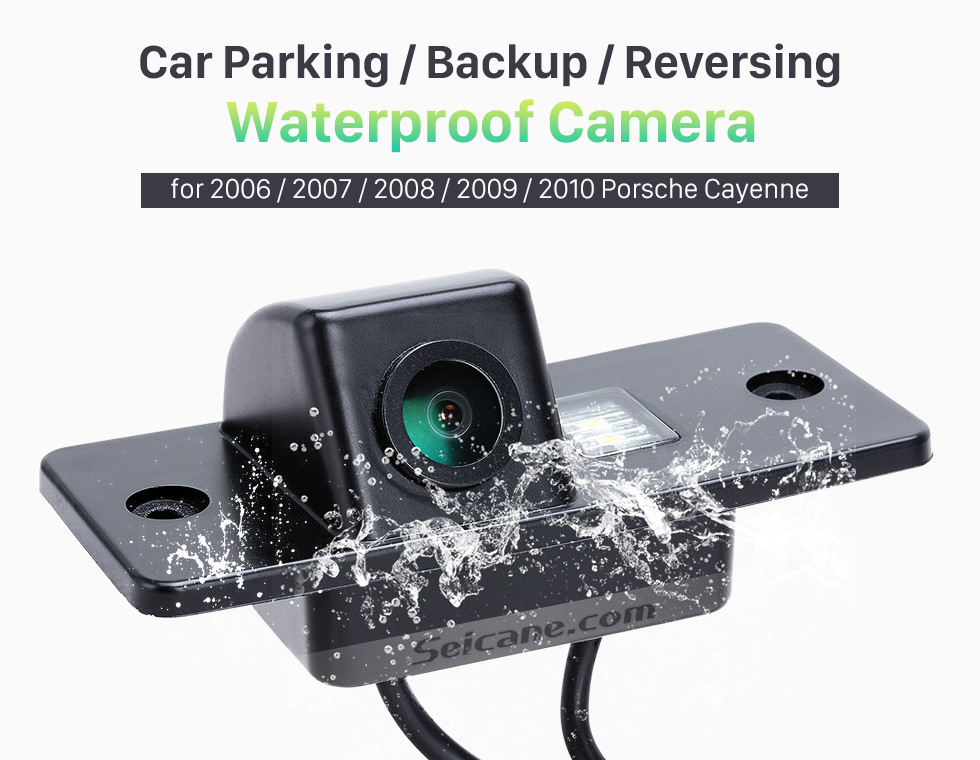 Seicane HD Wired Car Parking Backup Reversing Camera for 2006-2010 Porsche Cayenne Waterproof Blue Ruler Night Vision free shipping