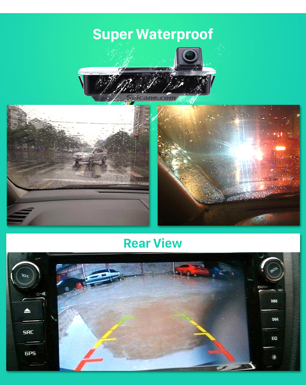 Super Waterproof HD Wired Car Parking Backup Reversing Camera for 2012-2013 NEW Ford Focus two boxes three boxes Waterproof four-color ruler and LR logo Night Vision free shipping
