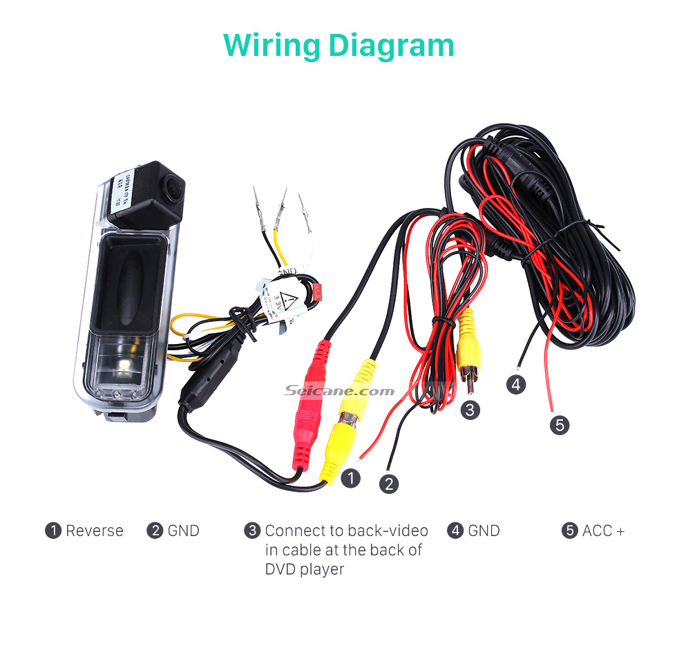 Wiring Diagram HD Wired Car Parking Backup Reversing Camera for 2012-2013 NEW Ford Focus two boxes three boxes Waterproof four-color ruler and LR logo Night Vision free shipping