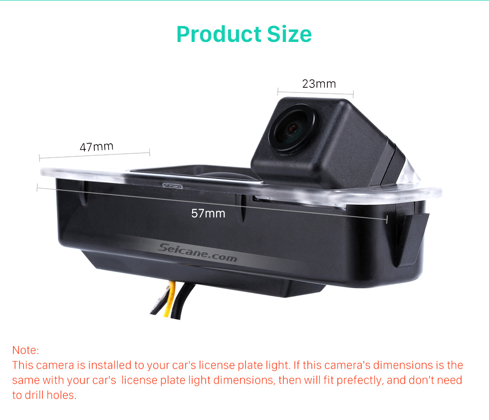 Product Size HD Wired Car Parking Backup Reversing Camera for 2012-2013 NEW Ford Focus two boxes three boxes Waterproof four-color ruler and LR logo Night Vision free shipping