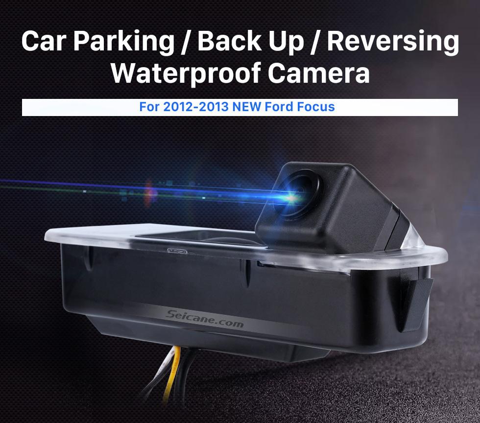 Seicane HD SONY CCD 600 tv linhas Wired Carro estacionamento Backup Câmera para 2012-2013 NEW Ford Focus two boxes three boxes à prova d'água Visão noturna Frete grátis