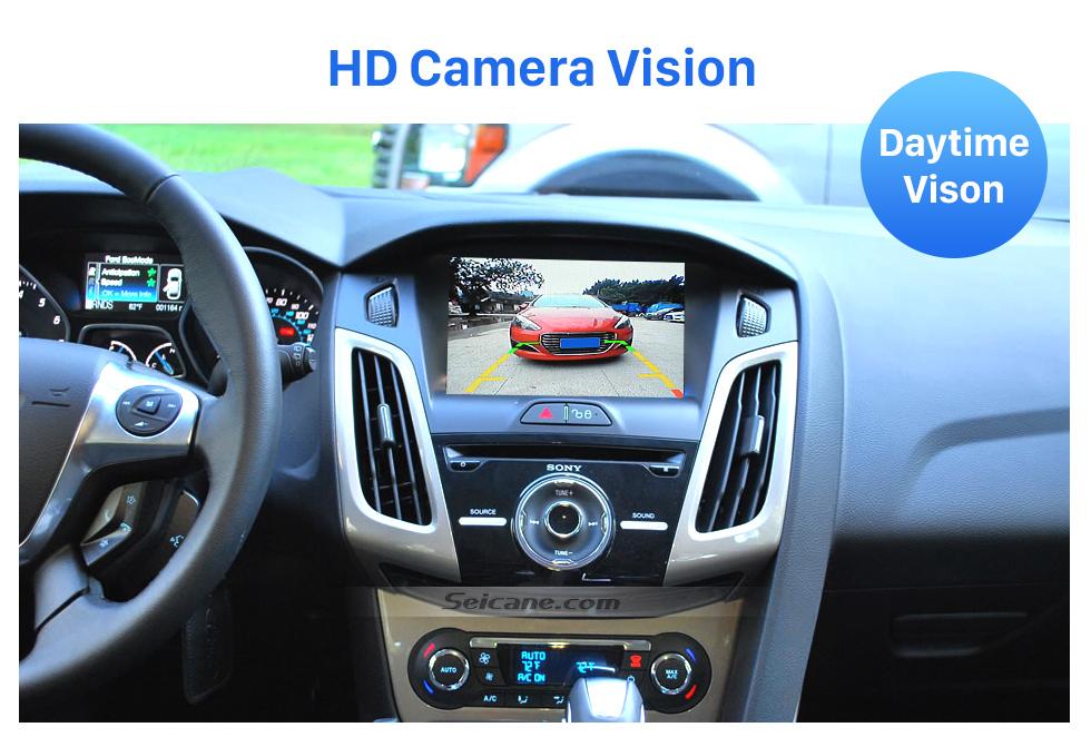 HD Camera Vision HD SONY CCD 600 tv linhas Wired Carro estacionamento Backup Câmera para 2012-2013 NEW Ford Focus two boxes three boxes à prova d'água Visão noturna Frete grátis