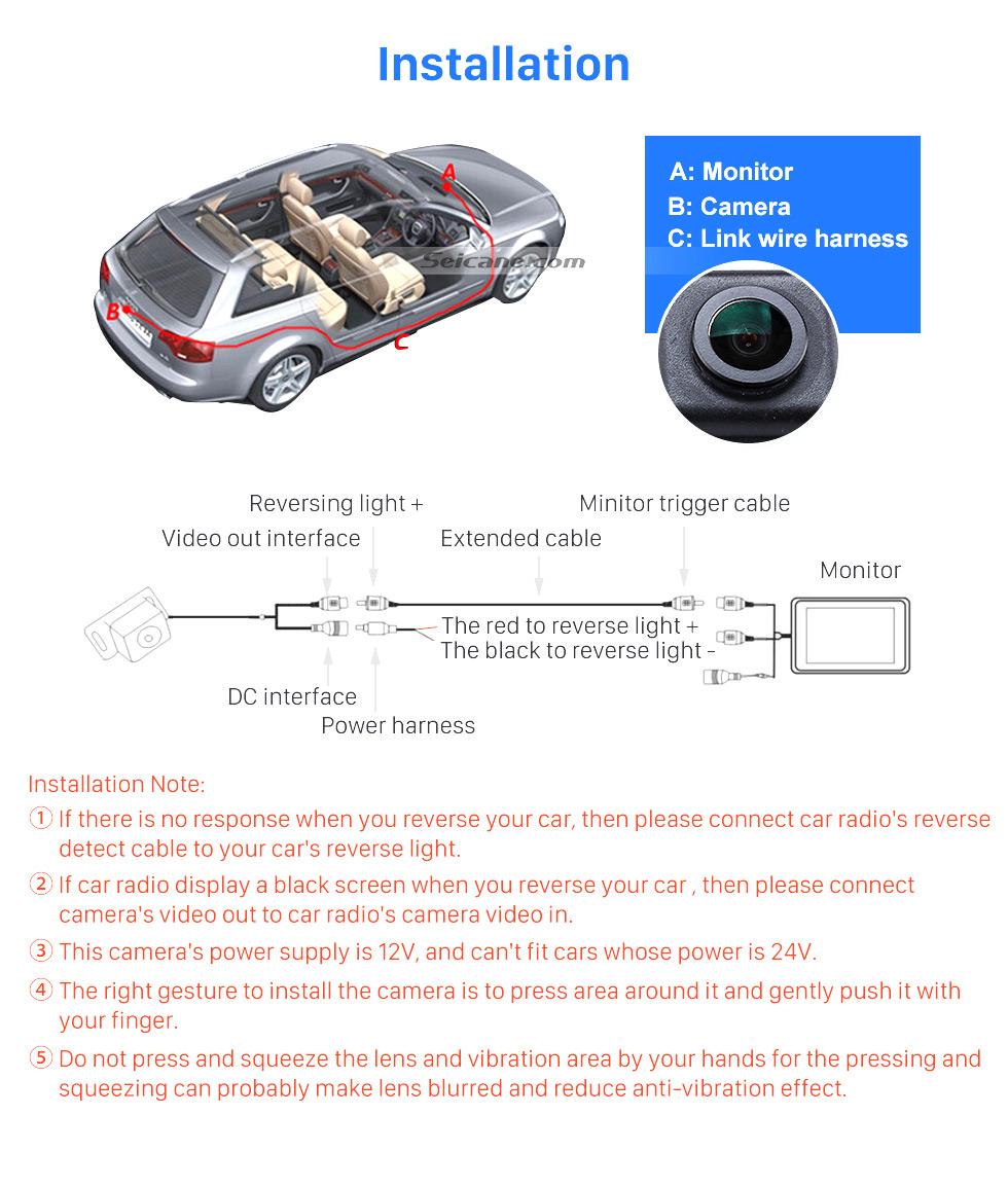 Installation HD SONY CCD 600 TB линии проводной Автомобильный парковка резервного камеры для 2012-2013 NEW Ford Focus two boxes three boxes водонепроницаемый Ночное видение бесплатная доставк