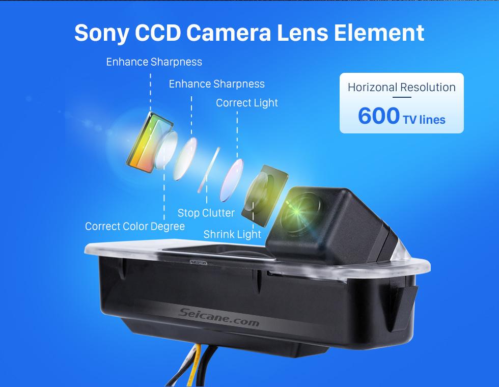 Sony CCD Camera Lens Element HD SONY CCD 600 TB линии проводной Автомобильный парковка резервного камеры для 2012-2013 NEW Ford Focus two boxes three boxes водонепроницаемый Ночное видение бесплатная доставк