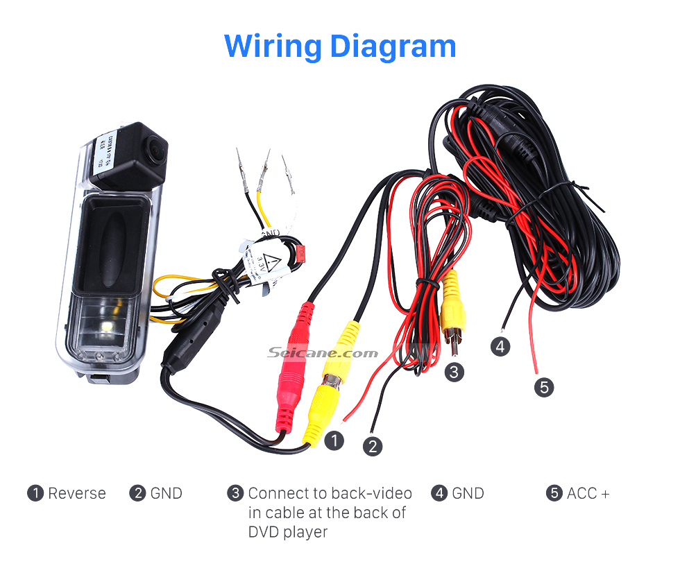 wiring diagram hd sony ccd 600 tv lines wired car parking backup  reversing camera for 2012