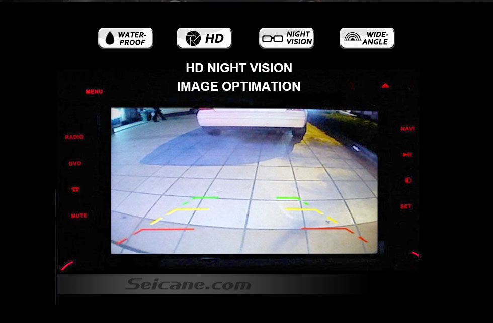 HD NIGHT VISION 170° HD Waterproof Blue Ruler Night Vision Car Rear View Camera for 2008-2012 PEUGEOT 407/408/307( two boxes)/308CC/307CC free shipping