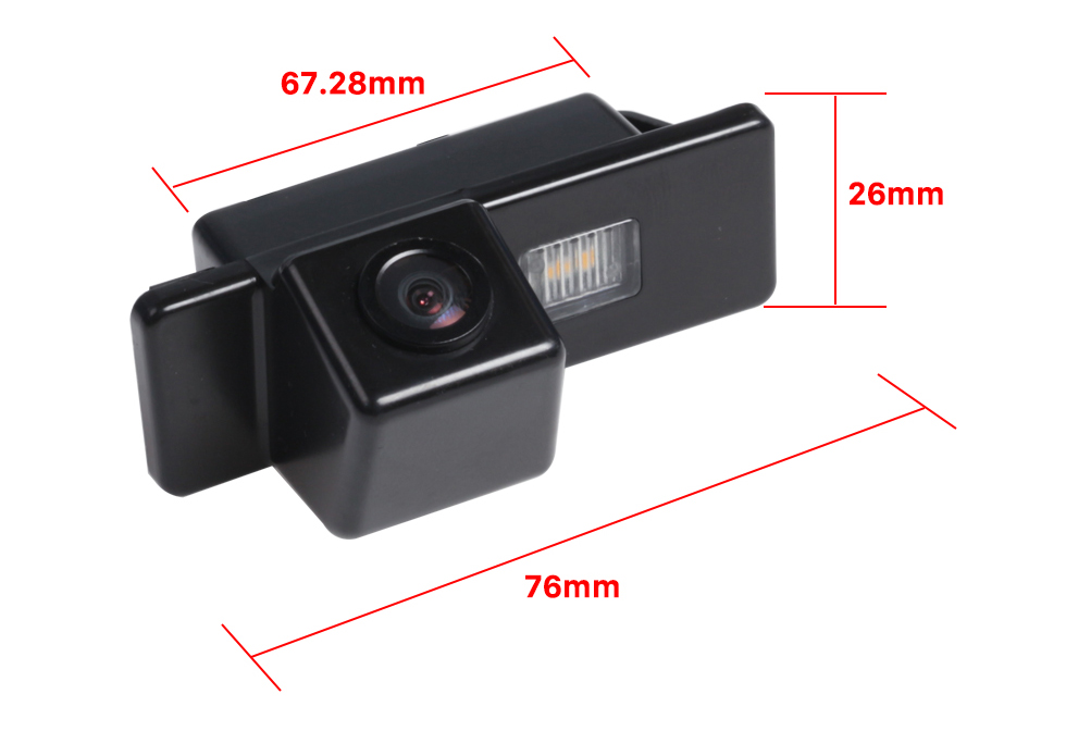 Package Content 170° HD Waterproof Blue Ruler Night Vision Car Rear View Camera for 2008-2012 PEUGEOT 407/408/307( two boxes)/308CC/307CC free shipping