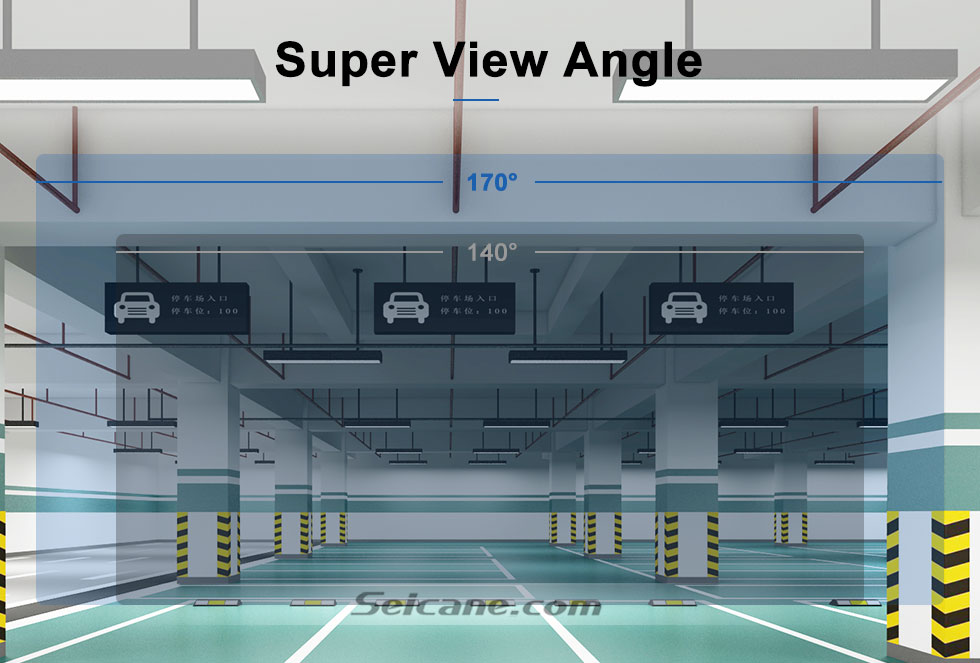 Super View Angle 170° HD Waterproof Blue Ruler Night Vision Car Rear View Camera for 2008-2012 PEUGEOT 407/408/307( two boxes)/308CC/307CC free shipping