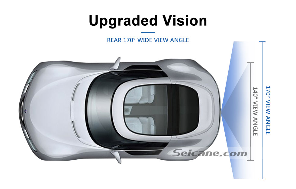 Upgraded Vision 170° HD Waterproof Blue Ruler Night Vision Car Rear View Camera for 2008-2012 PEUGEOT 407/408/307( two boxes)/308CC/307CC free shipping
