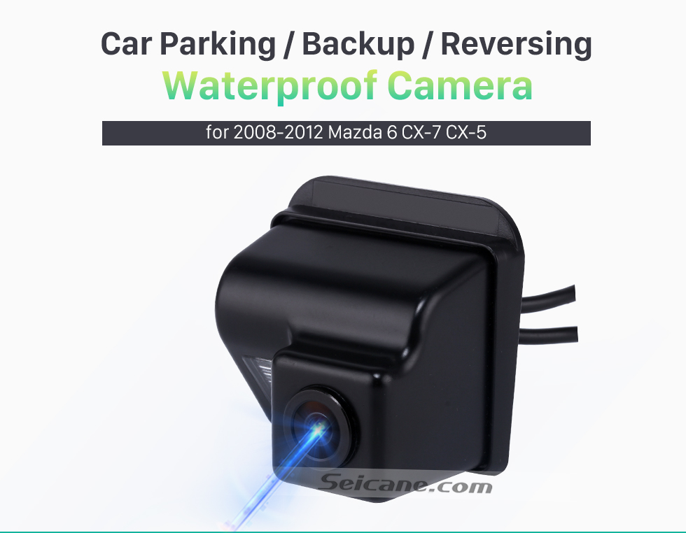 Seicane 2008-2012 Mazda 6 CX-7 CX-5 Car Rear View Camera with Blue Ruler Night Vision free shipping
