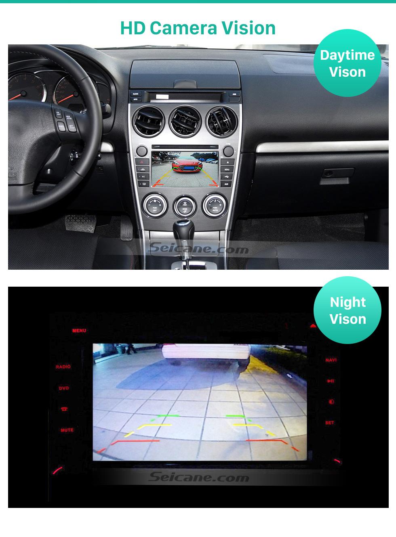 Seicane 170° HD водонепроницаемый синий линейка Ночное видение Автомобильный заднего вида камеры для 2008-2015 Mazda 6 Ruiyi Ultra бесплатная доставка