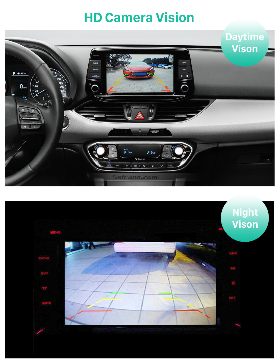 HD Camera Vision 170° HD à prova d'água azul régua Visão noturna Carro Retrovisor Câmera para Hyundai I30L ROHENS-Coupe Hyundai Veloster Frete grátis