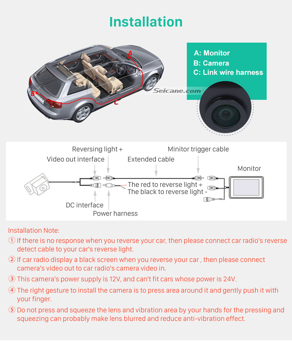 Installation 170° HD Waterproof Blue Ruler Night Vision Car Rear View Camera for Hyundai I30L ROHENS-Coupe Hyundai Veloster free shipping