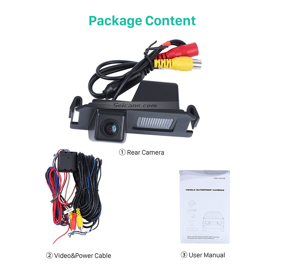 Package Content 170° HD Waterproof Blue Ruler Night Vision Car Rear View Camera for Hyundai I30L ROHENS-Coupe Hyundai Veloster free shipping