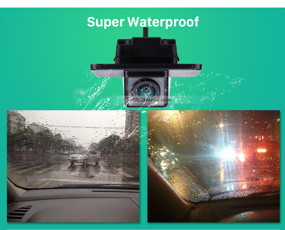 Super Waterproof HD Wired Car Parking Backup Reversing Camera for KIA K5 Waterproof four-color ruler and LR logo Night Vision free shipping