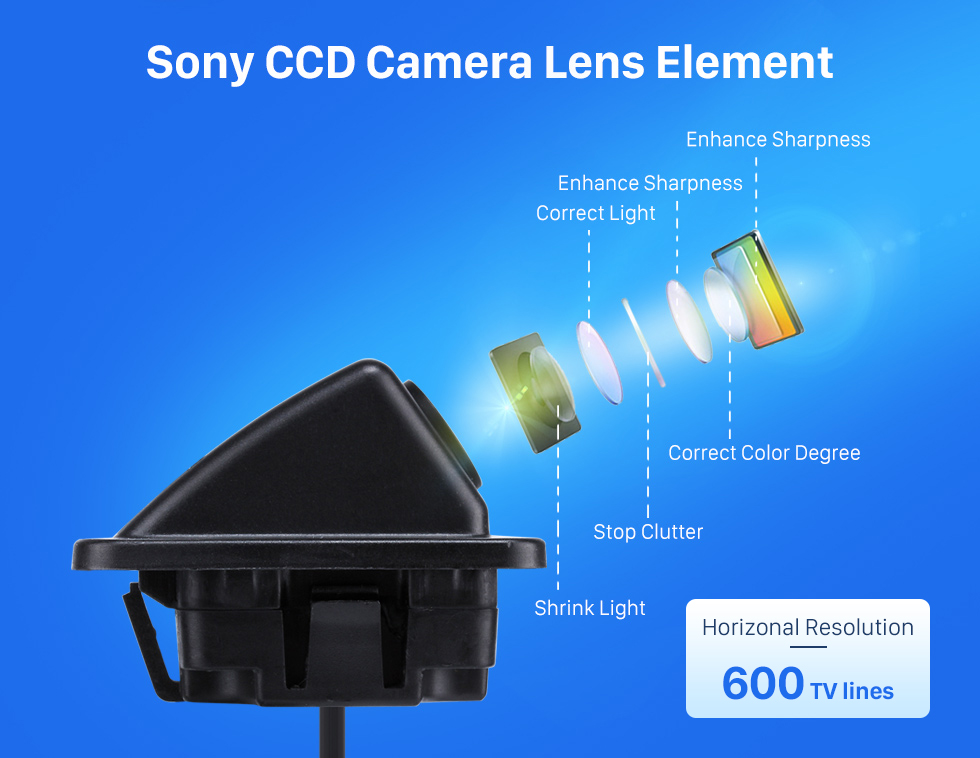 Sony CCD Camera Lens Element HD SONY CCD 600 TV Lines Wired Car Parking Backup Reversing Camera for KIA K5 version Waterproof Night Vision free shipping
