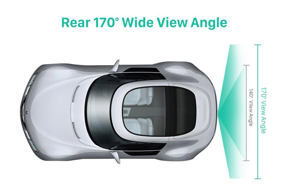 Rear 170 Wide View Angle 170° HD wasserdicht blau Herrscher Nachtsicht Auto Rückfahr kamera für 2009-2013 KIA Soul RIO Versand kostenfrei