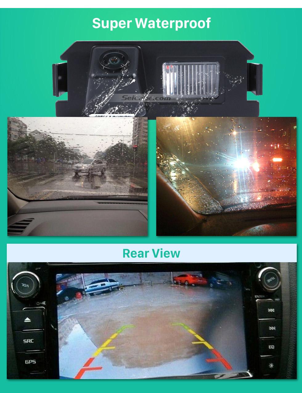 Super Waterproof 170° HD wasserdicht blau Herrscher Nachtsicht Auto Rückfahr kamera für 2009-2013 KIA Soul RIO Versand kostenfrei