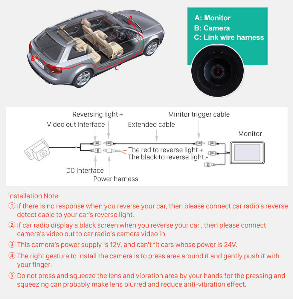 Seicane HD Wired Car Parking Backup Reversing Camera for Volvo S80L S40L S80 S40 XC90 XC60 Waterproof Blue Ruler Night Vision free shipping