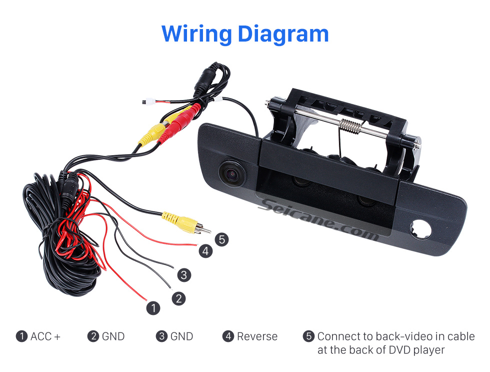 Wiring Diagram Master Tailgaters 2009-2015 Dodge Ram With Black Tailgate Wired Waterproof Car Parking Night Vision Backup Reversing Camera