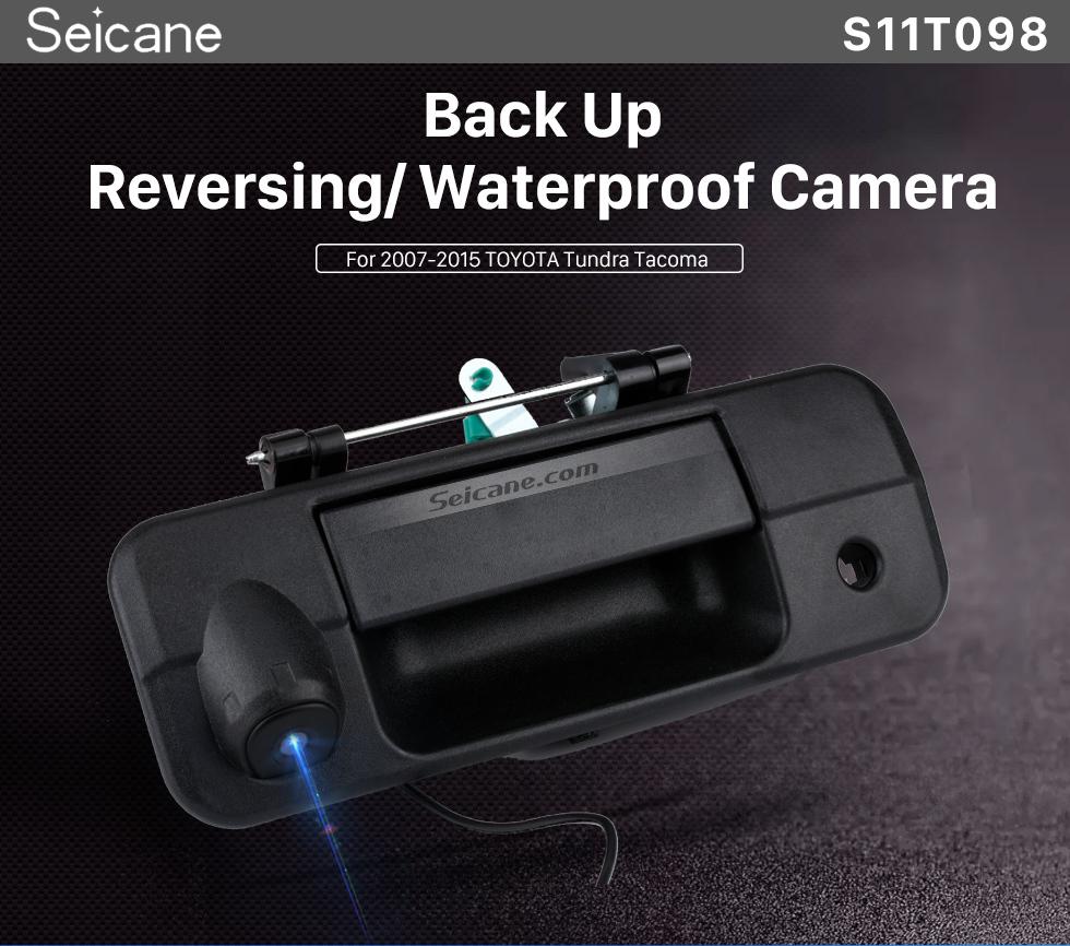 Seicane SONY CCD 600 Zeilen Für 2007-2015 Toyota Tundra Tundra Backup-Kamera mit schwarzem Tailgate Wired Wasserdichte Auto Parkplatz Nachtsicht