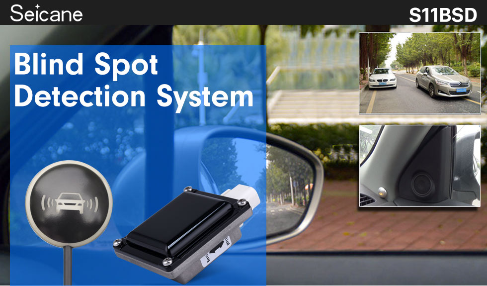 Seicane Smart Car Blind Spot Detection System Easy Change lane No Blind Areas Car Driving Security Safety Free Shopping