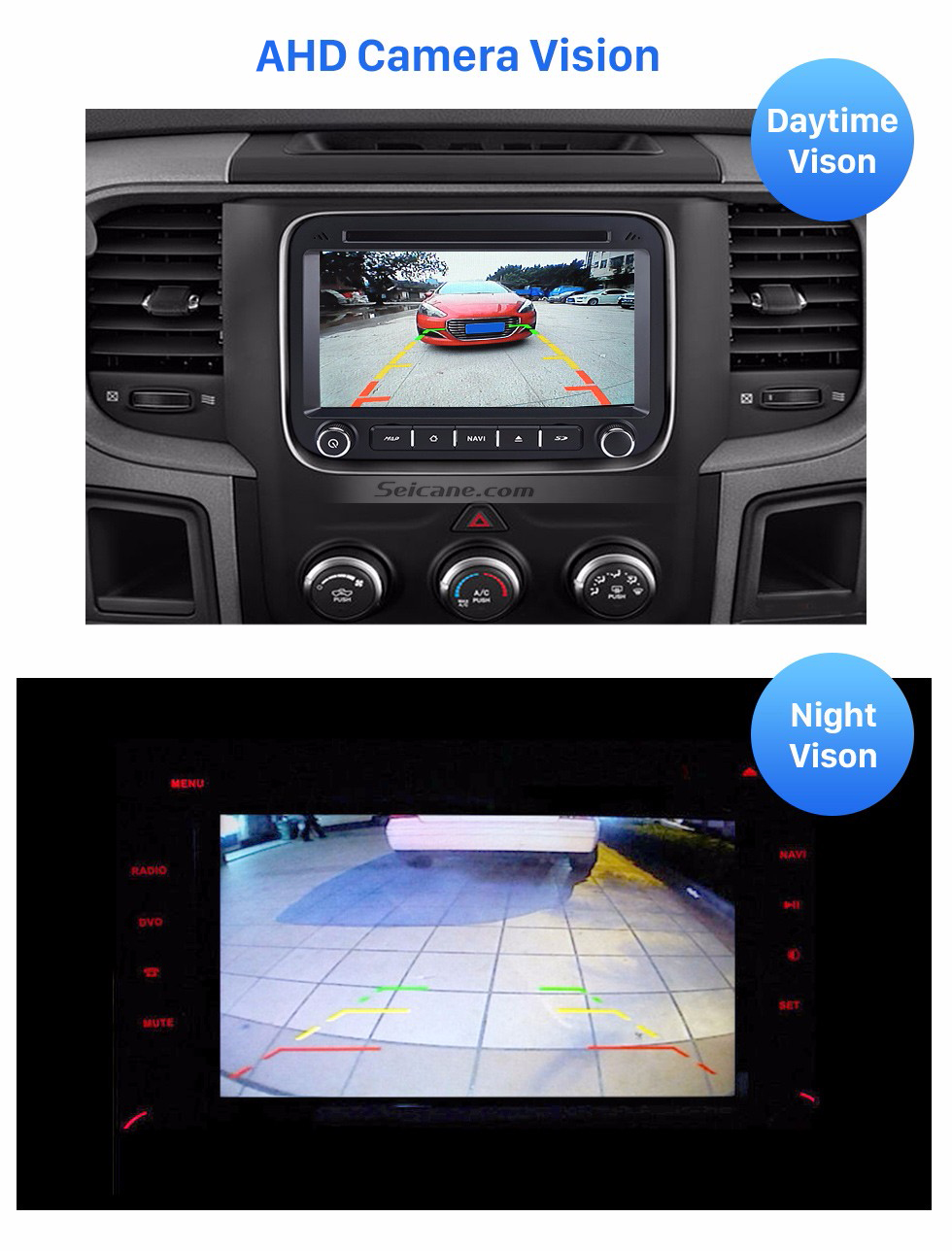 Seicane 192 Degree Horizontal View Field HD Car Backup Reversing Camera with Waterproof and Night Vision Parking Assistance system
