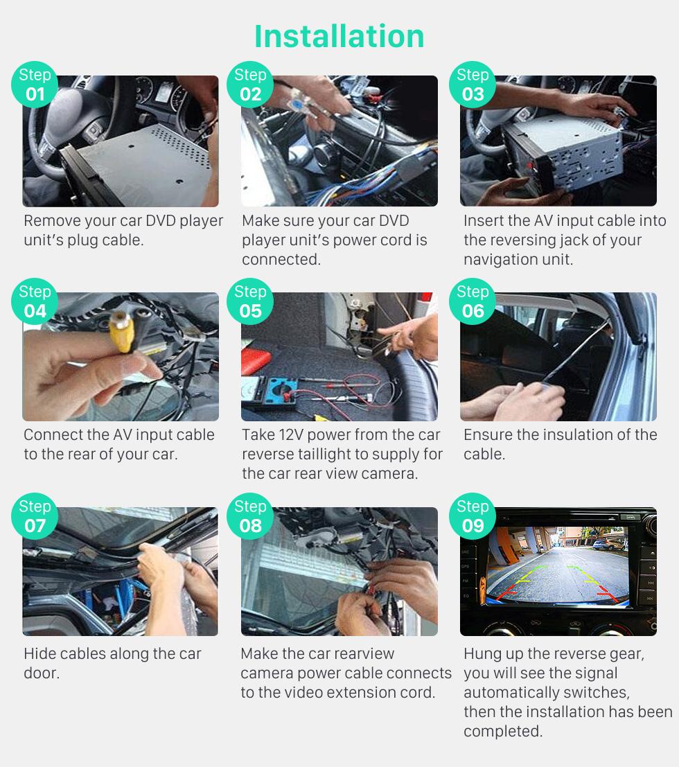 Seicane Sony CCD Universal HD Auto Rückfahrkamera-Parken-Monitor für Schlag-Stereoradio Wasserdicht