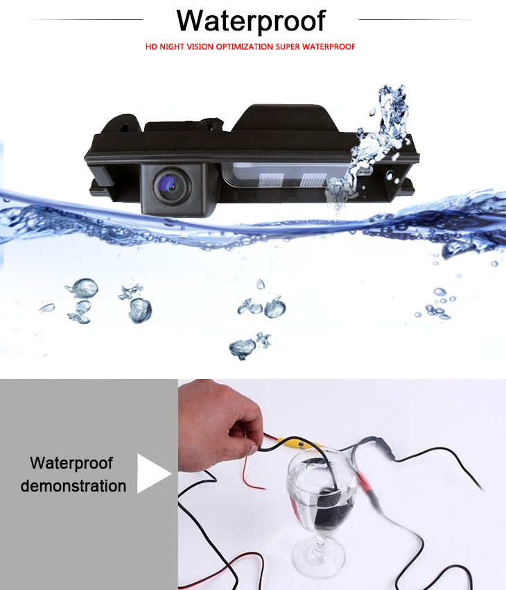 DVD Player HD SONY CCD 600 TV Lines Wired Car Parking Backup Reversing Camera for TOYOTA 2013 RAV4 European version Waterproof Night Vision free shipping