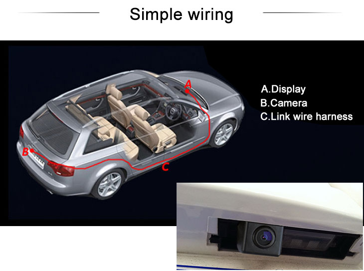 Digital TV HD SONY CCD 600 TV Lines Wired Car Parking Backup Reversing Camera for TOYOTA 2013 RAV4 European version Waterproof Night Vision free shipping