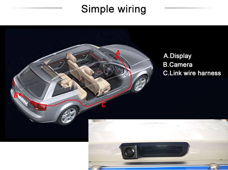Digital TV HD SONY CCD 600 TV Lines Wired Waterproof Car Parking Backup Reversing Camera for 2013 NEW Mercedes-Benz ML  2013 A180 Night Vision free shipping