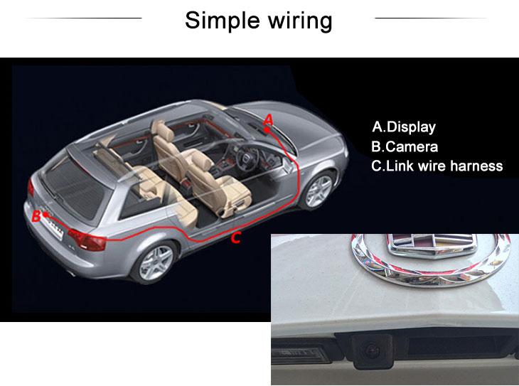 Digital TV Hot selling 2014 Cadillac ATS 2013 NEW XTS Car Rear View Camera with four-color ruler and LR logo Night Vision free shipping