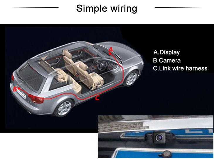 Digital TV HD 600 TV Lines Wired Car Parking Backup Reversing Camera for 2008-2012 Old Honda SPIRIOR Night Vision Waterproof free shipping