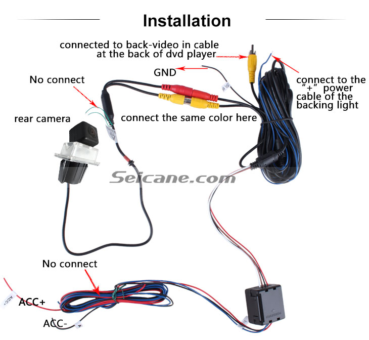AUX Hot selling 2008-2010 Mercedes-Benz E、C Car Rear View Camera with four-color ruler and LR logo Night Vision free shipping