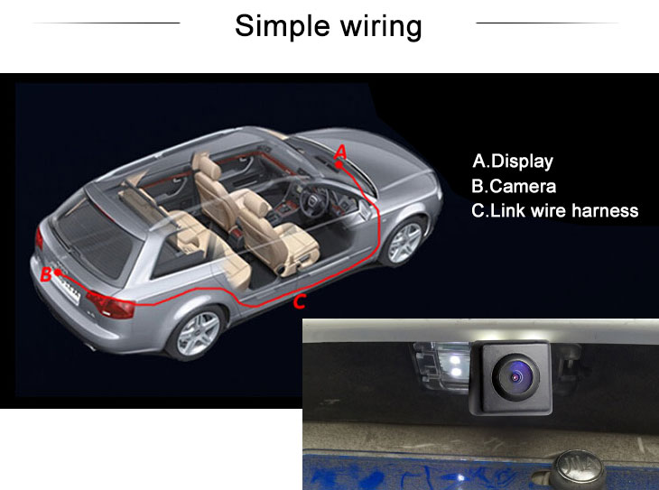Digital TV HD SONY CCD 600 TV Lines Wired Waterproof Car Parking Backup Reversing Camera for TOYOTA Sienna Night Vision  free shipping