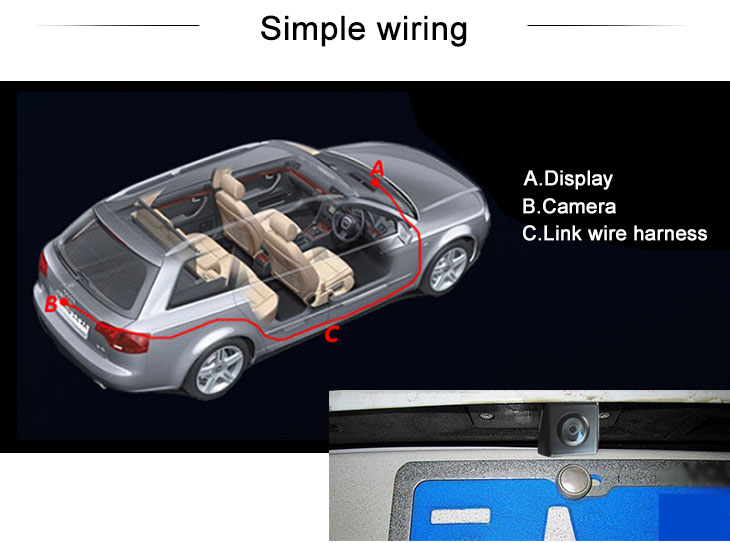 Digital TV Hot selling 2013 Citroen C4L AIR CROSS Car Rear View Camera with four-color ruler and LR logo Night Vision free shipping