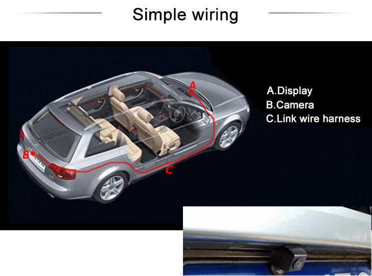 Digital TV HD Car Rearview Camera for 2011-2013 NEW Honda 8 Accord free shipping