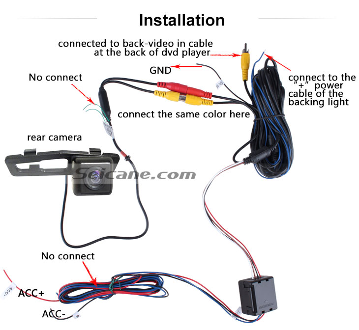 AUX HD Car Rearview Camera for 2011-2013 NEW Honda 8 Accord free shipping