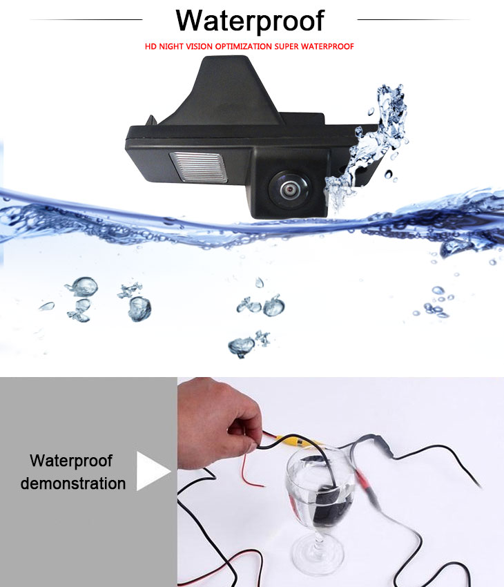 DVD Player HD SONY CCD 600 TV Lines Wired Car Parking Backup Reversing Camera for 2012-2013 NEW Hyundai Azera Waterproof Night Vision free shipping