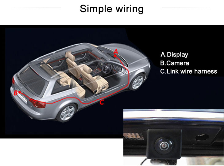Digital TV HD SONY CCD 600 TV Lines Wired Car Parking Backup Reversing Camera for 2012-2013 NEW Hyundai Azera Waterproof Night Vision free shipping