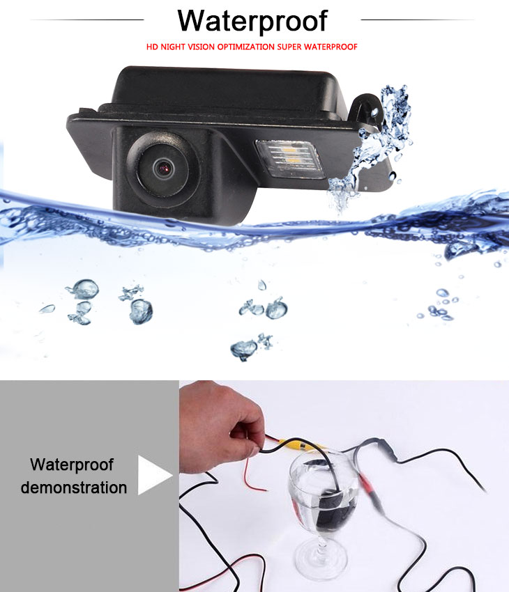 DVD Player 170° HD Waterproof Blue Ruler Night Vision Car Rear View Camera for Ford Mondeo Smax Fiesta 2009-2011 Focus two boxes free shipping