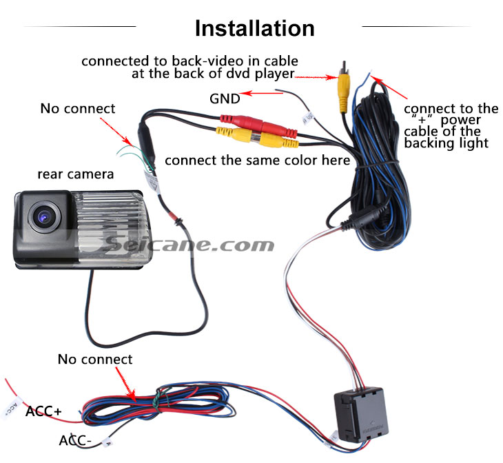 AUX 2006-2013 Toyota COROLLA Car Rear View Camera with Blue Ruler Night Vision free shipping
