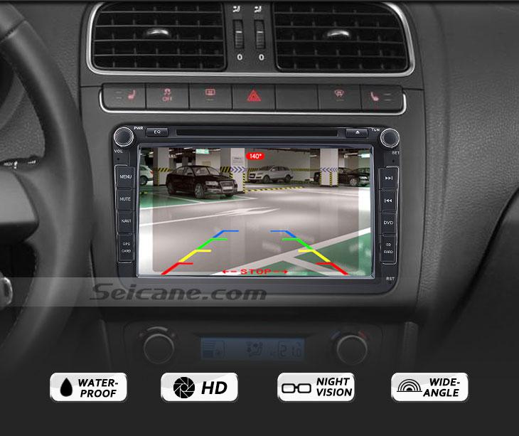 Functions 170° HD à prova d'água azul régua Visão noturna Carro Retrovisor Câmera para 2007-2013 Nissan LIVINA Geniss 307Z 2009 Tiida Frete grátis
