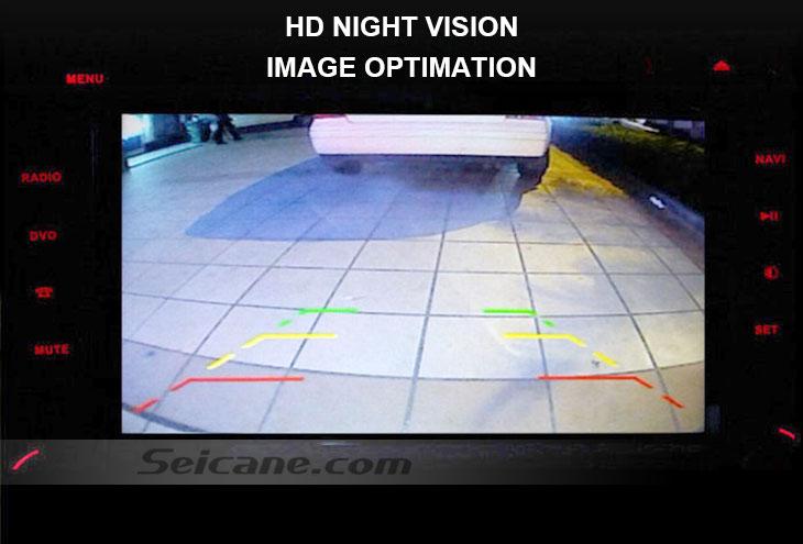 Languges 170° HD à prova d'água azul régua Visão noturna Carro Retrovisor Câmera para 2007-2013 Nissan LIVINA Geniss 307Z 2009 Tiida Frete grátis