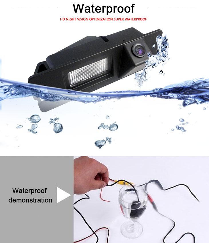 DVD Player 170° HD à prova d'água azul régua Visão noturna Carro Retrovisor Câmera para 2007-2013 Nissan LIVINA Geniss 307Z 2009 Tiida Frete grátis