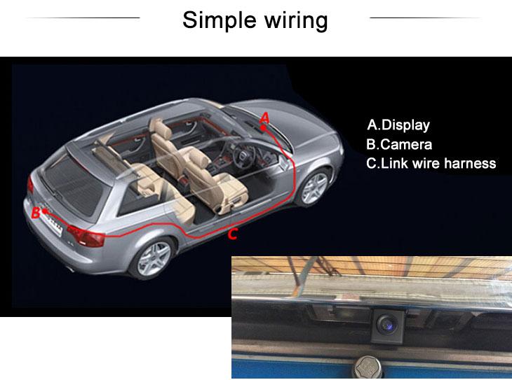 Digital TV 170° HD à prova d'água azul régua Visão noturna Carro Retrovisor Câmera para 2007-2013 Nissan LIVINA Geniss 307Z 2009 Tiida Frete grátis